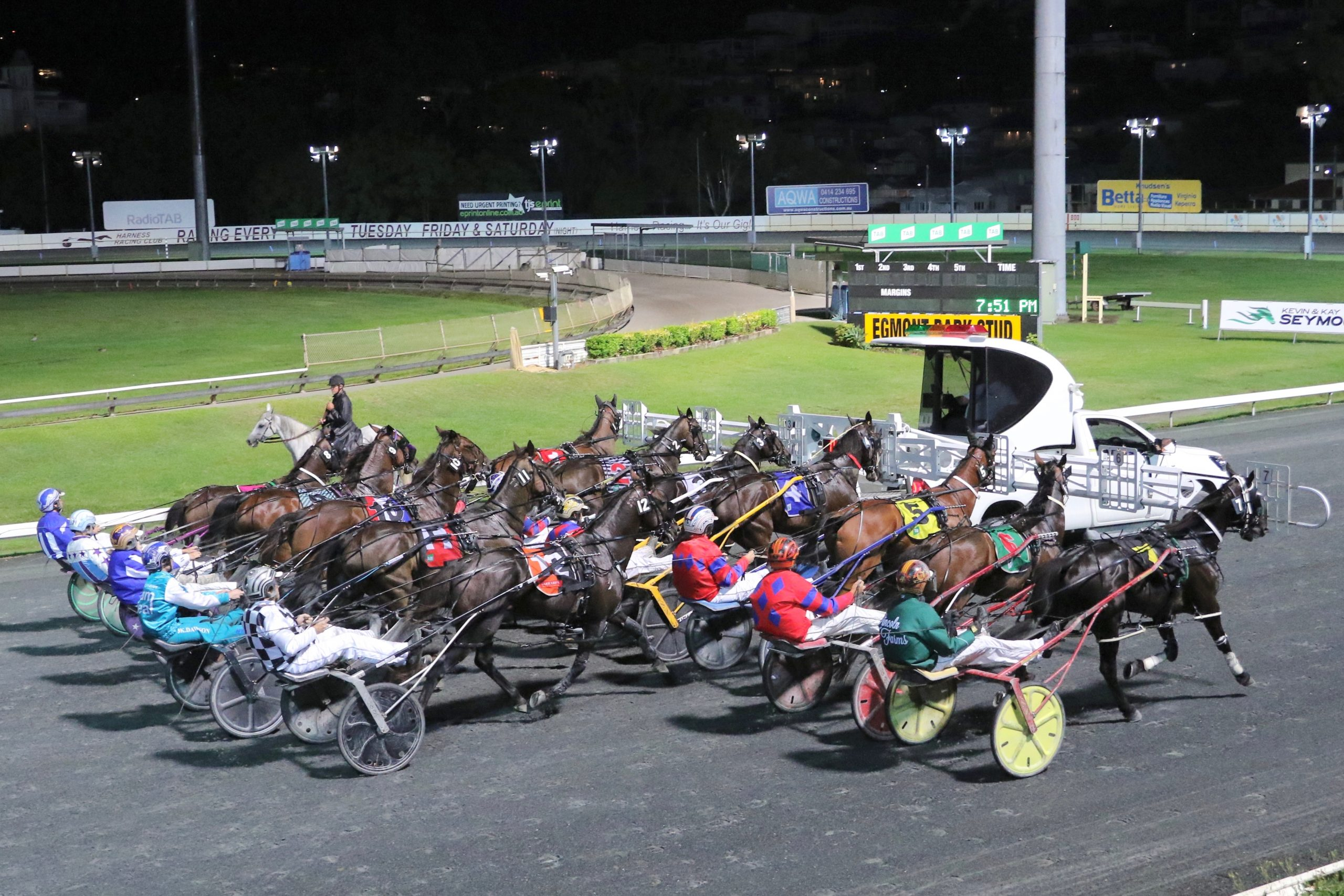 Friday harness racing at The Creek albion park