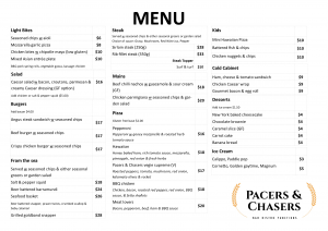 Menu Image for Pacers and Chasers