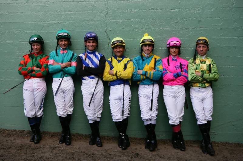 Jockeys racing in Brisbane